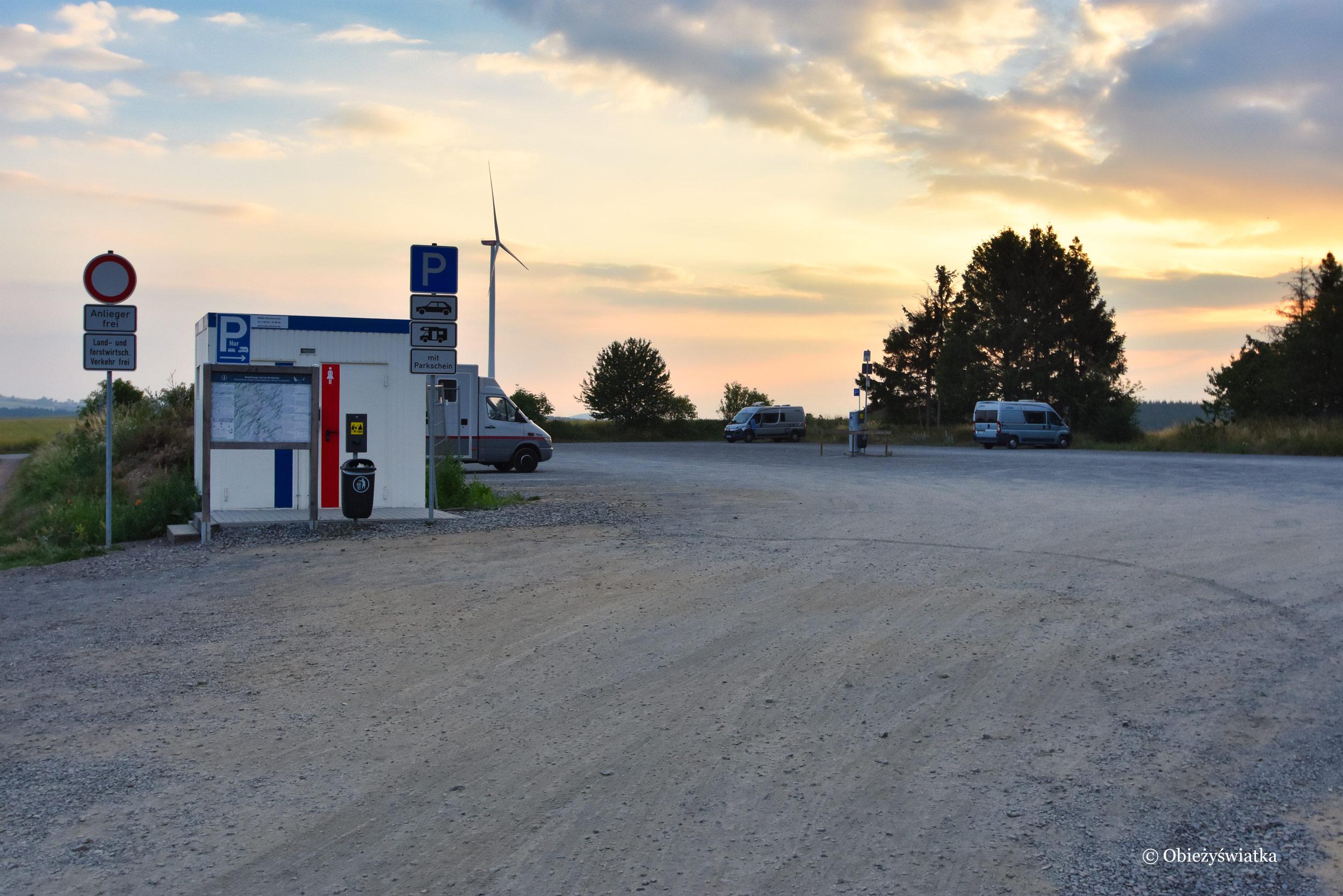 Przykładowy Stellplatz / Motor home stopover w Niemczech