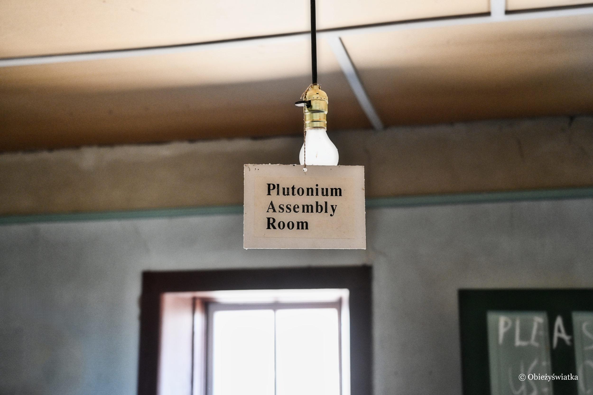 W tym pomieszczeniu składowano pluton potrzebny do bomby - McDonalds Ranch House, Nowy Meksyk