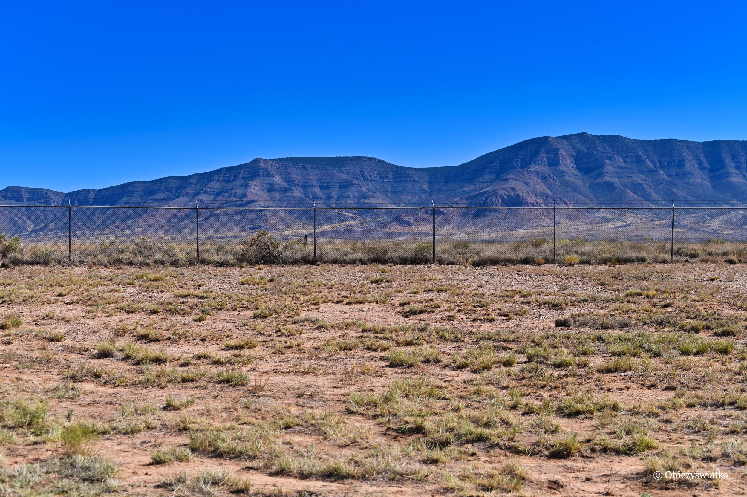 Na terenie eksprymentu - Trinity Test Site, Nowy Meksyk