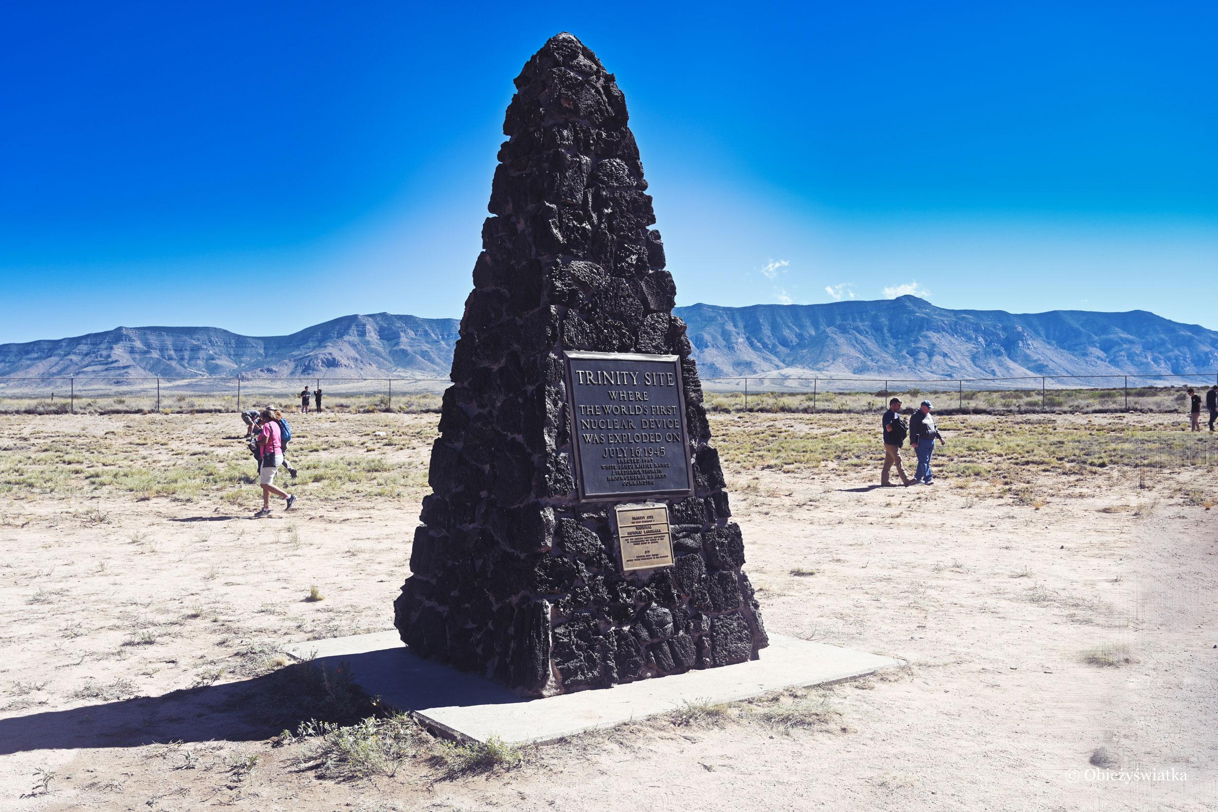 Obelisk - Trinity Test Site, Nowy Meksyk