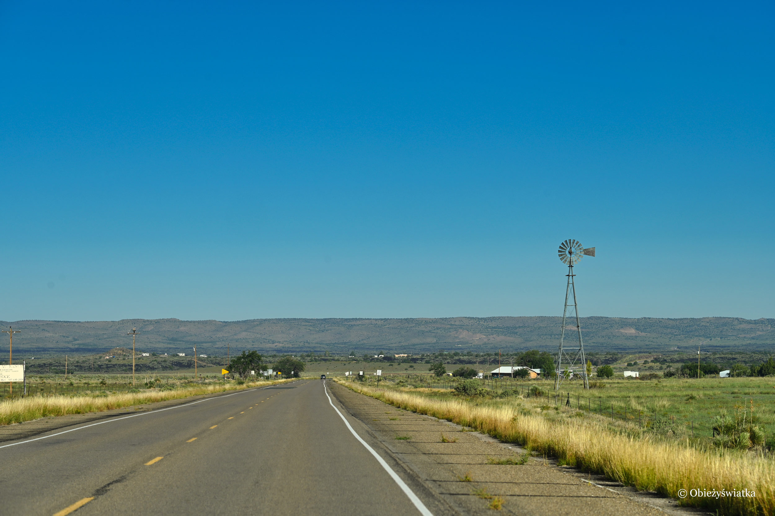 Typowy krajobraz stanu Nowy Meksyk, USA
