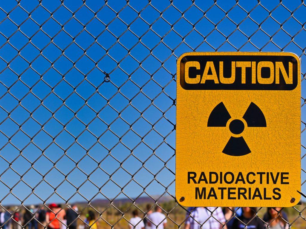 Uwaga na materiał radioaktywny, Trinity Test Site, Nowy Meksyk