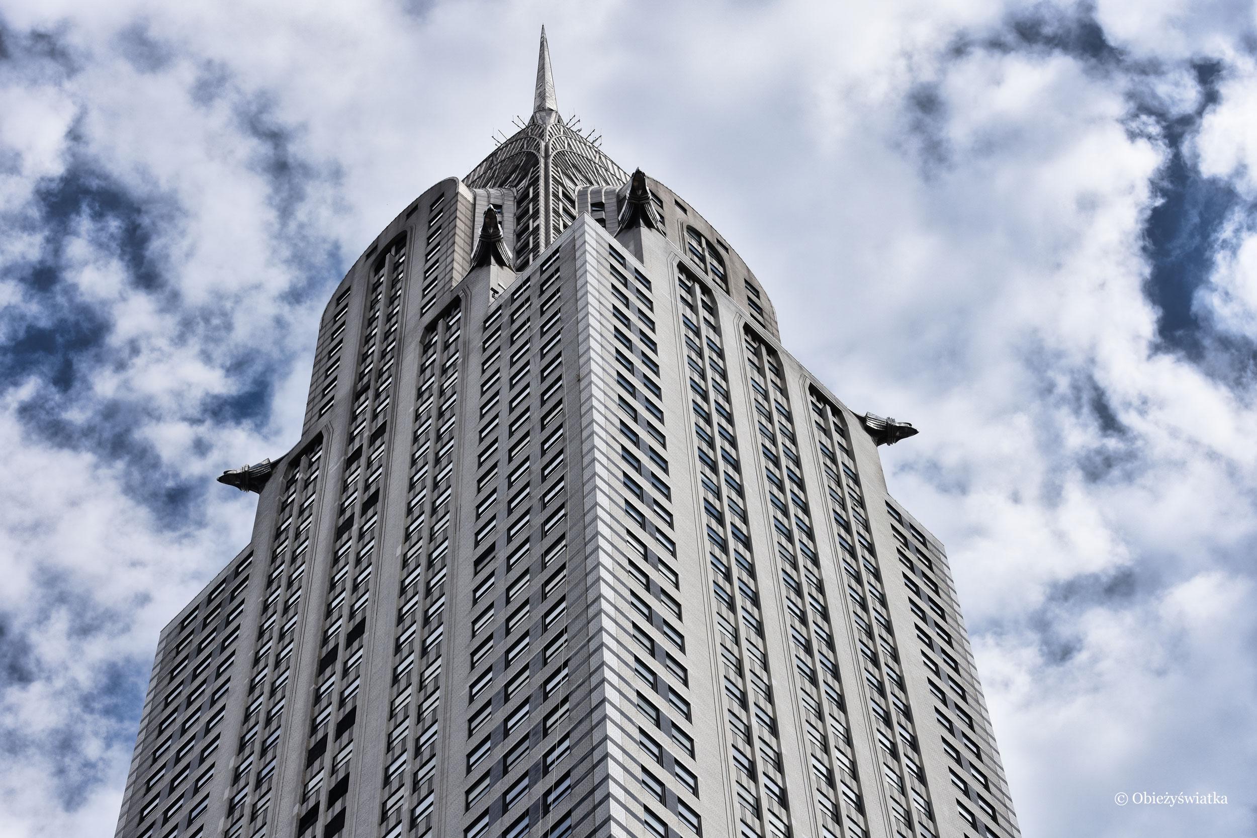 Chrysler Building i jego gargulce, NYC