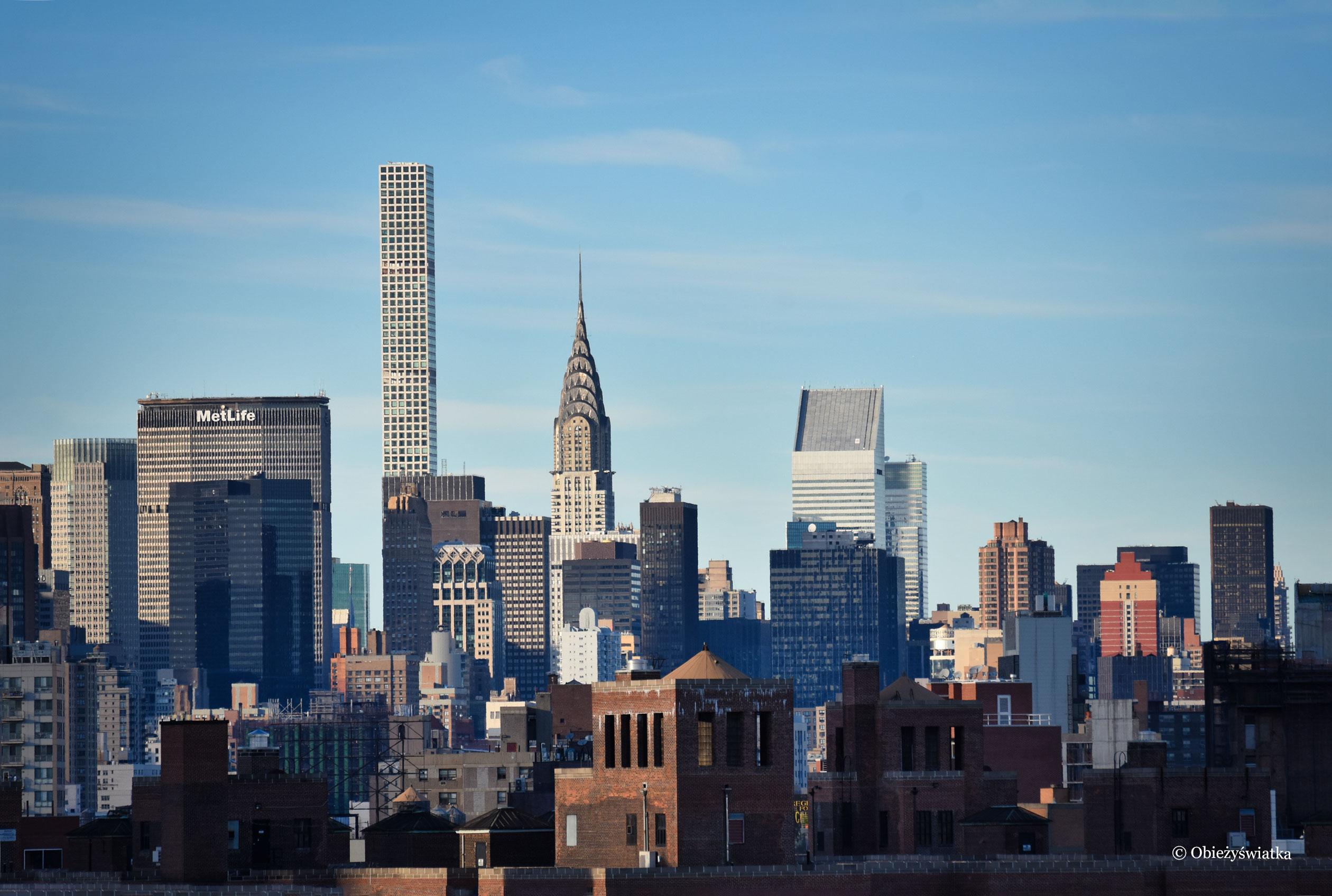 Panorama Manhattanu - widok na m.in. Chrysler Building, NYC