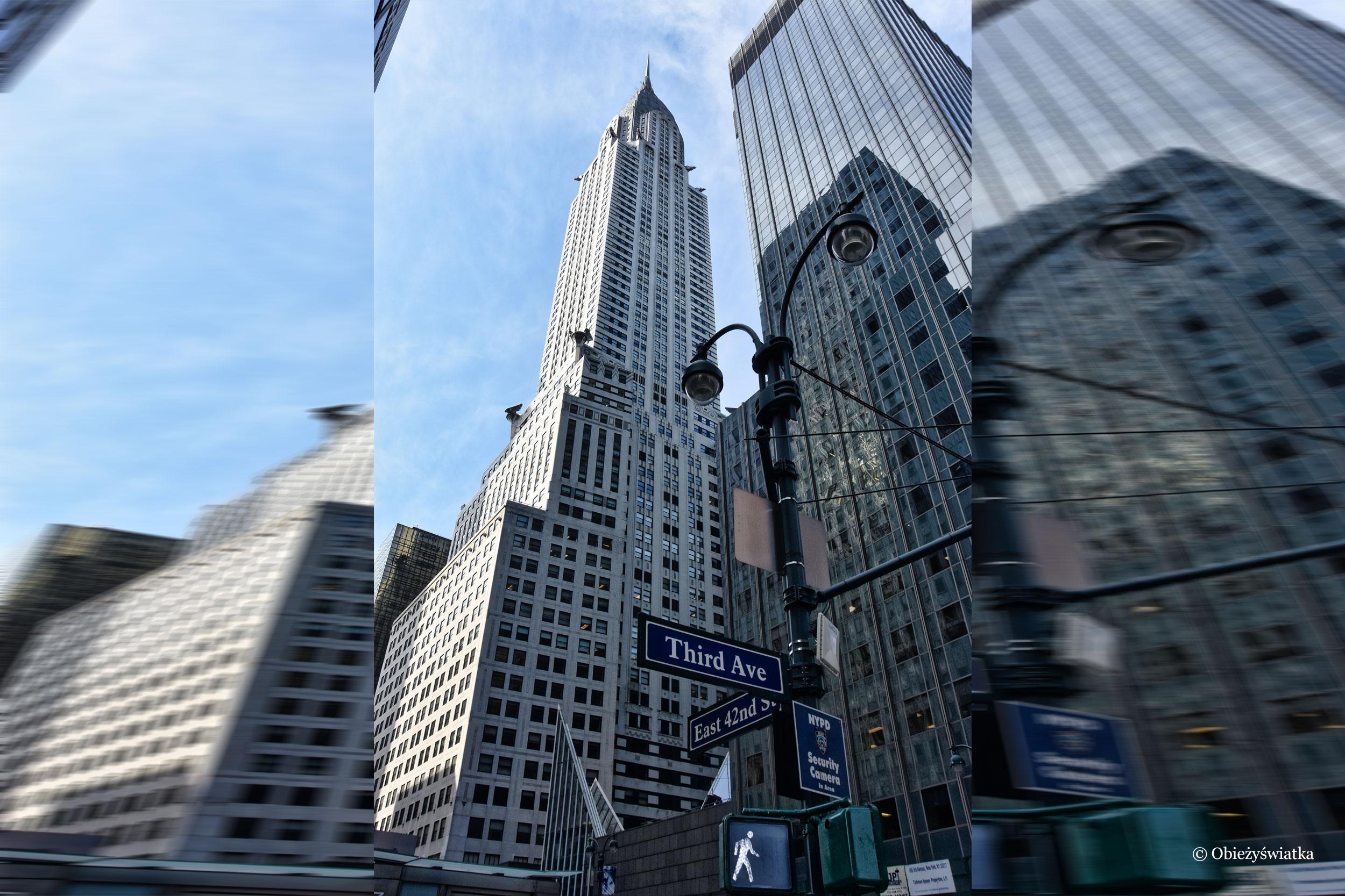 W Nowym Jorku trzeba patrzeć w chmury.... - Chrysler Building, NYC