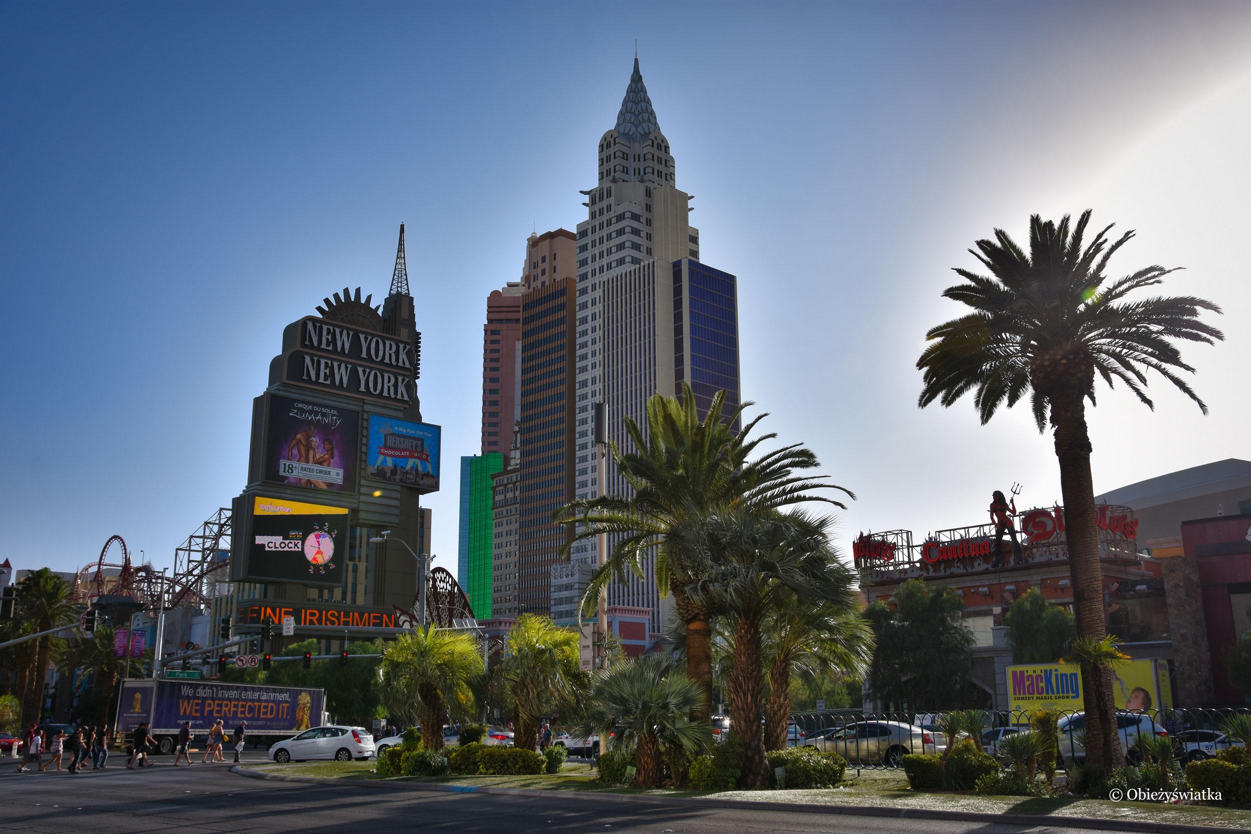Replika Chrysler Building w kompleksie hotelowym New York, New York w Las Vegas, Nevada