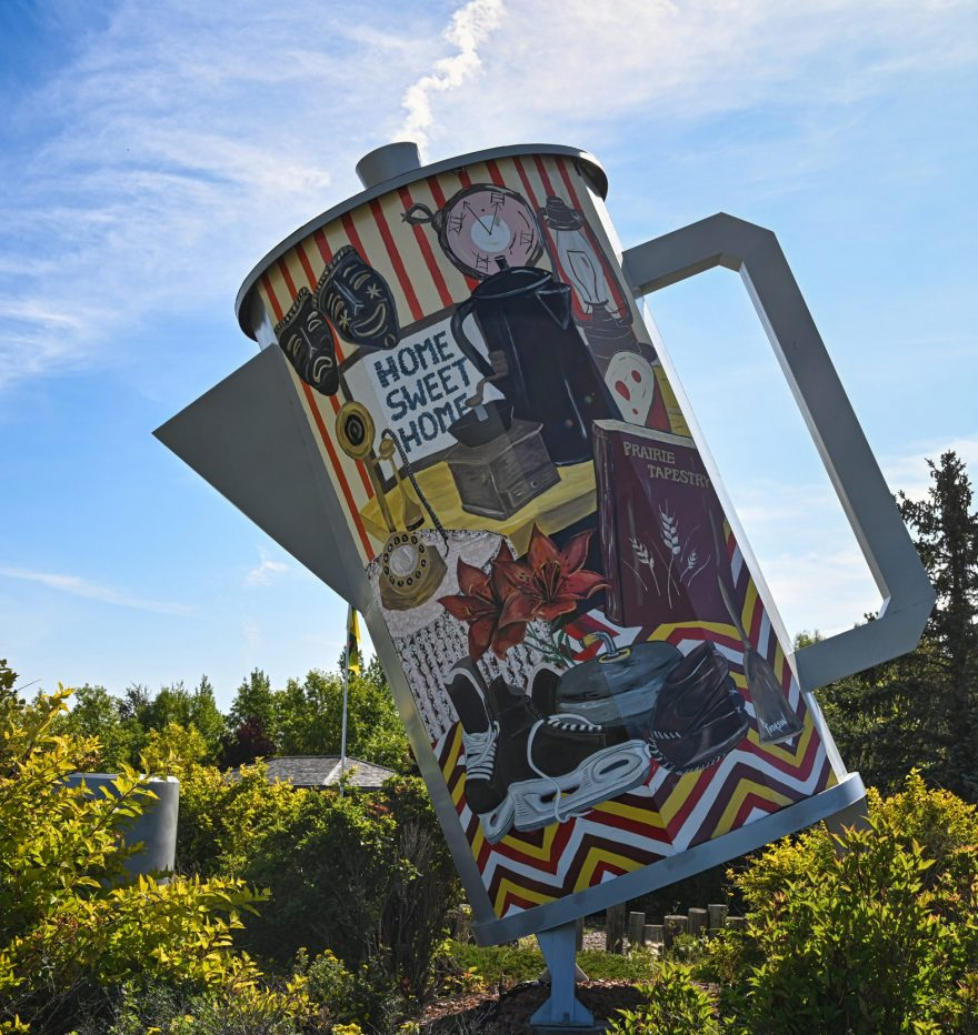 Coffee pot monument, Davidson Town, Canada