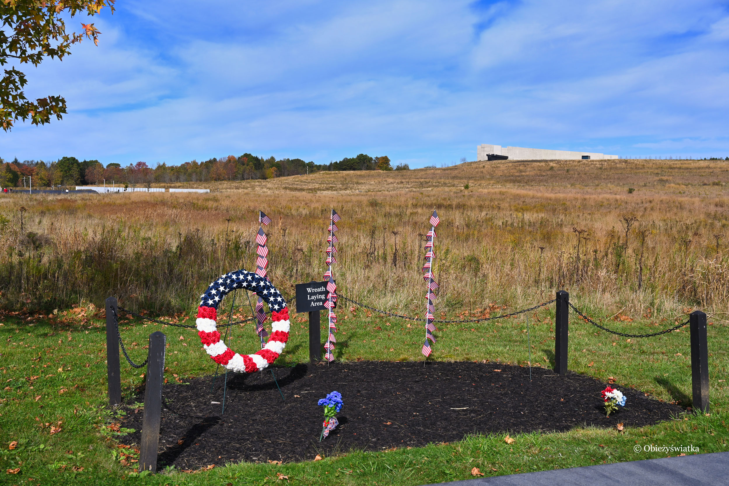Flight 93 Memorial, Pennsylvania - miejsca na wieńce