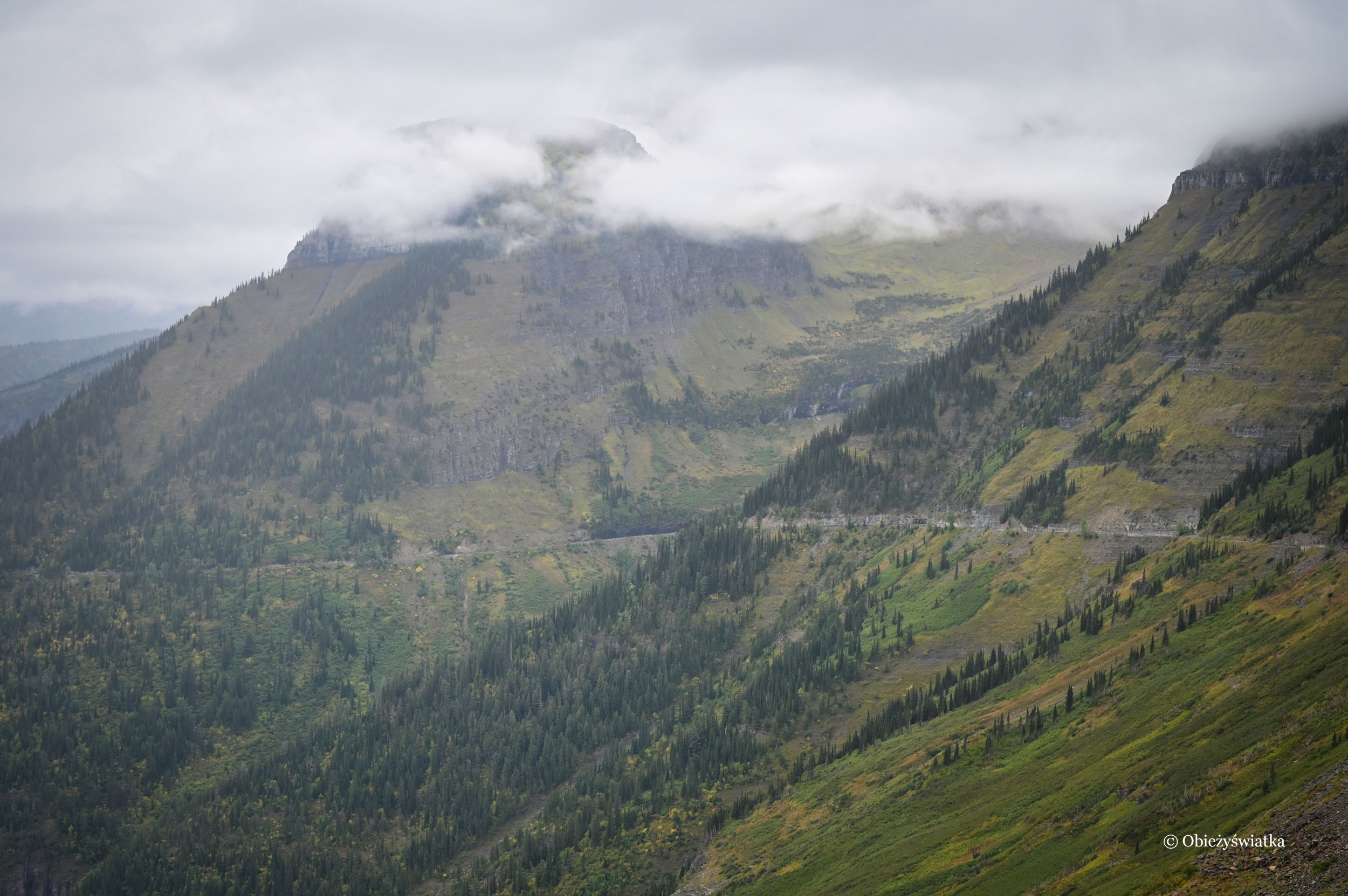 Otulone mgłą Góry Skaliste / Rocky Mountains