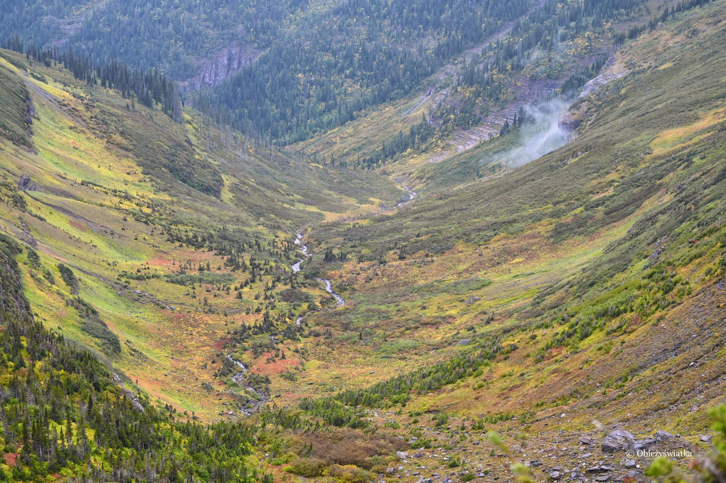 Początek jesieni w Glacier National Park, Montana