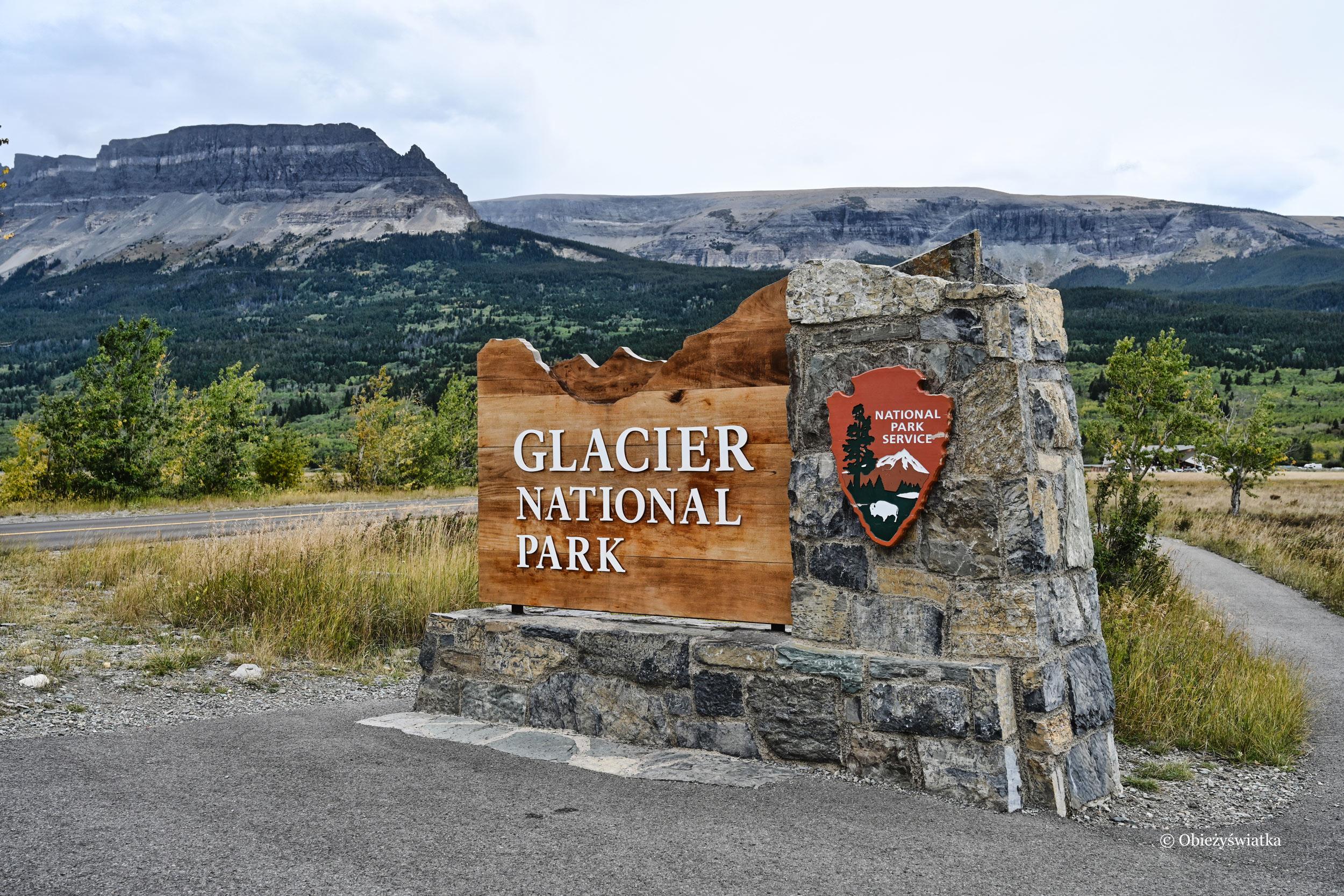 Wjazd do Parku Narodowego Glacier, Montana