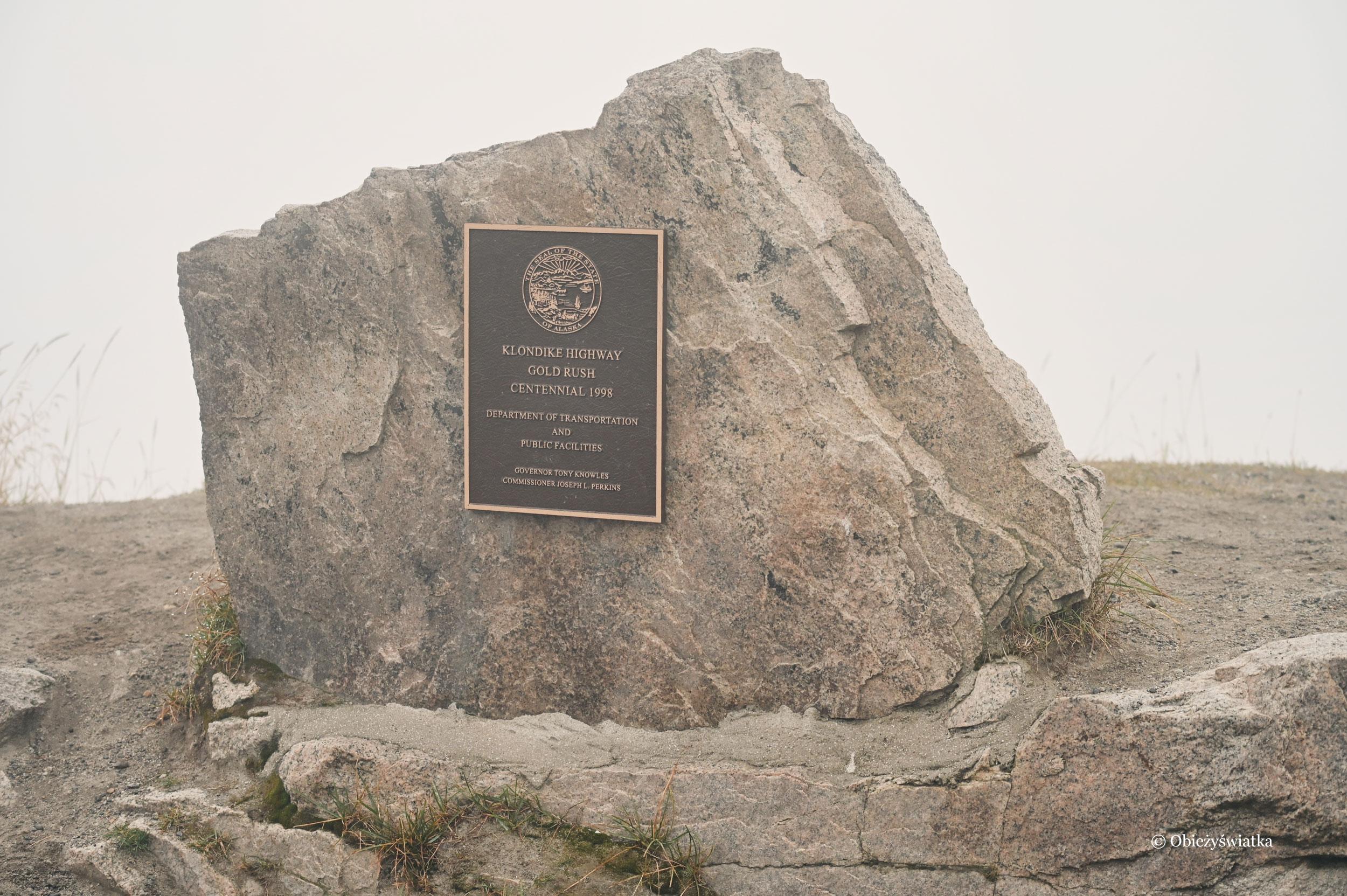 Tablica pamiątkowa Klondike Highway, Alaska