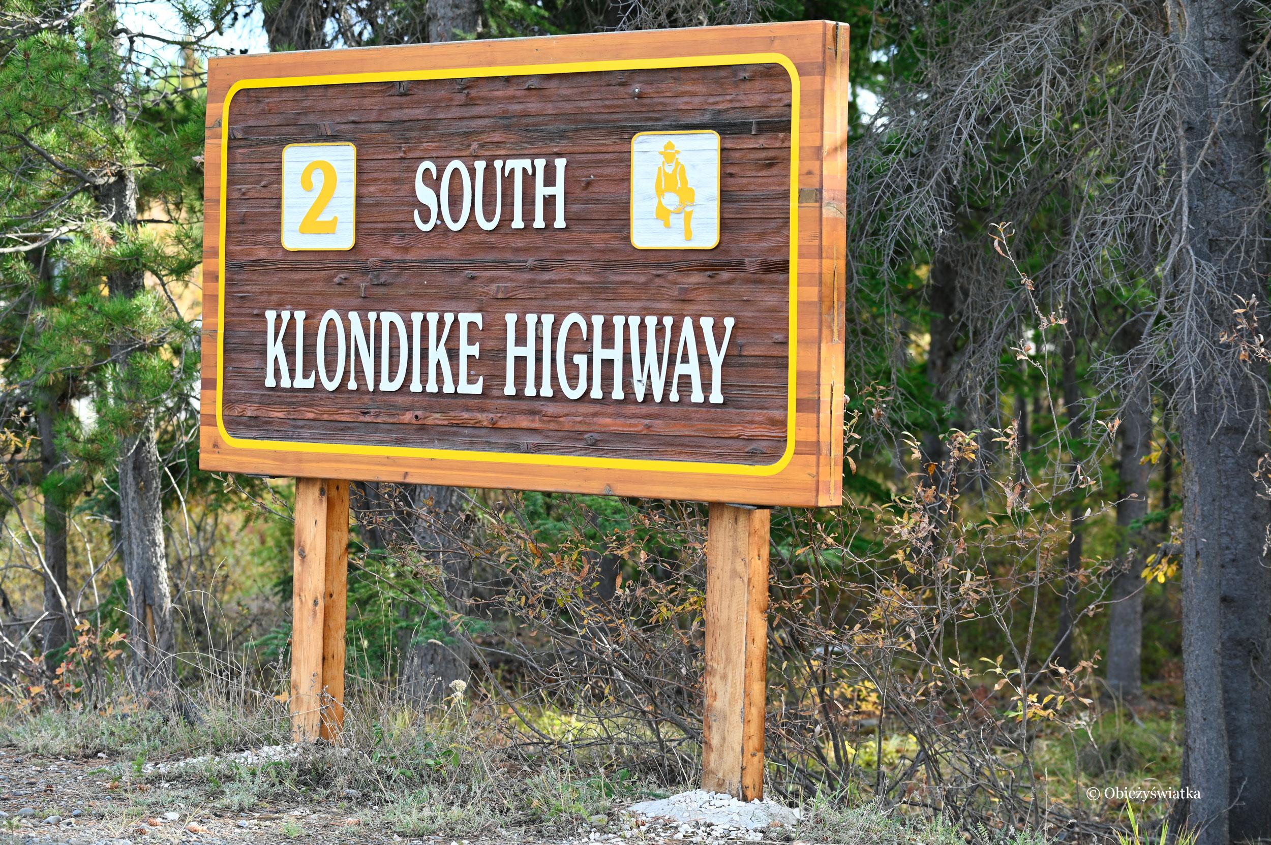 South Klondike Highway - szyld drogowy, Kanada