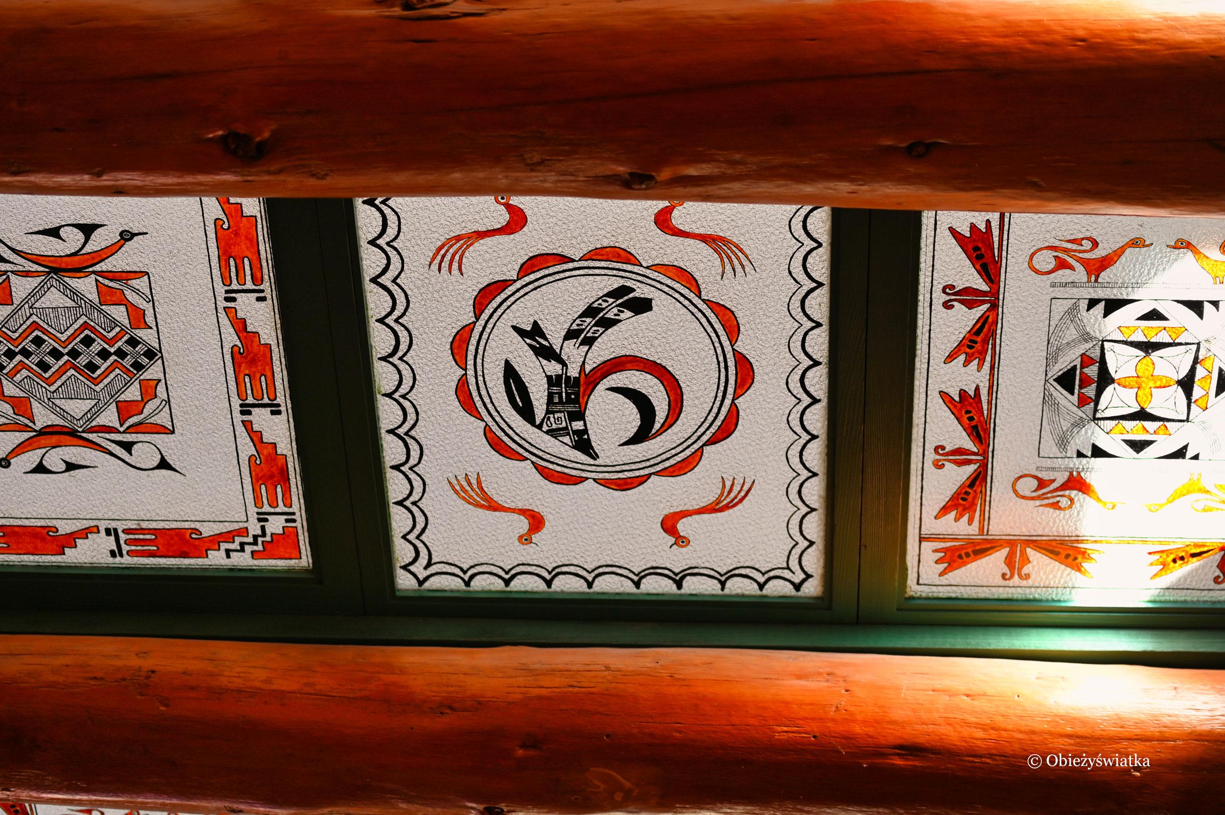 Witraże w dachu Painted Desert Inn, Arizona