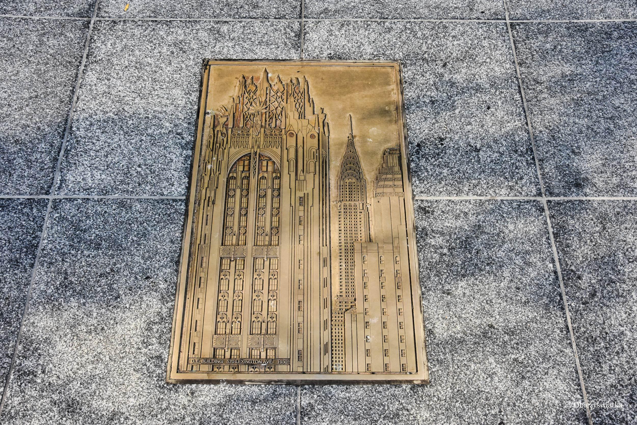 Chrysler Building jako płaskorzeźba, NYC