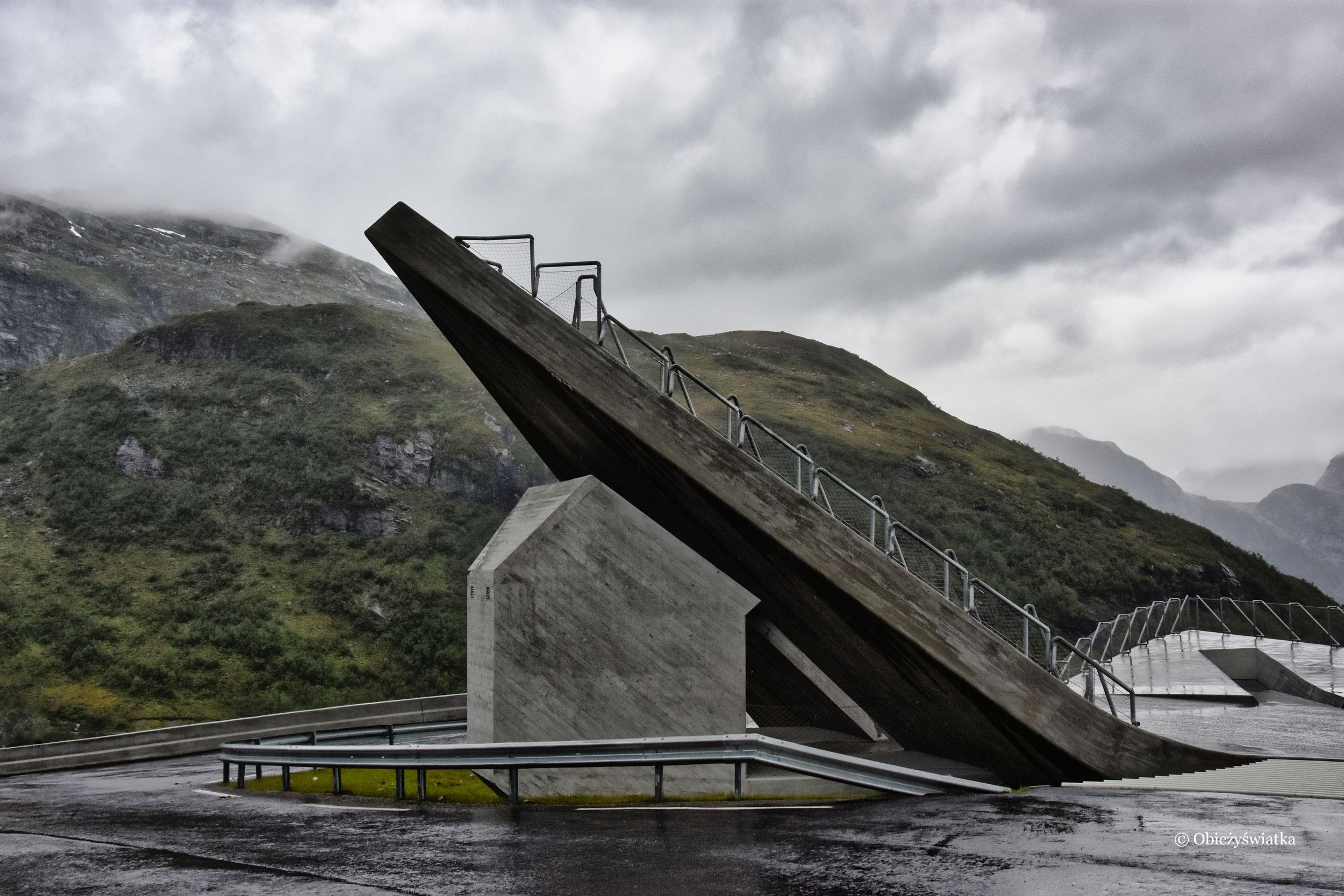 Jedna z platform punktu widokowego Utsikten, Norwegia