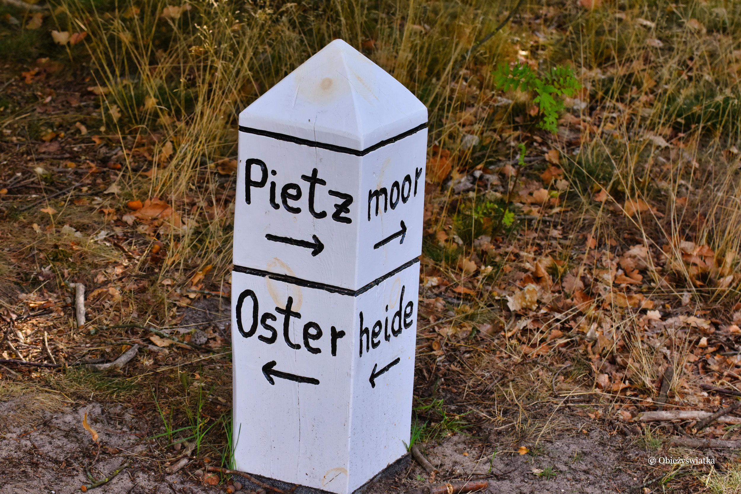 Oznakowanie, Lüneburger Heide, Niemcy