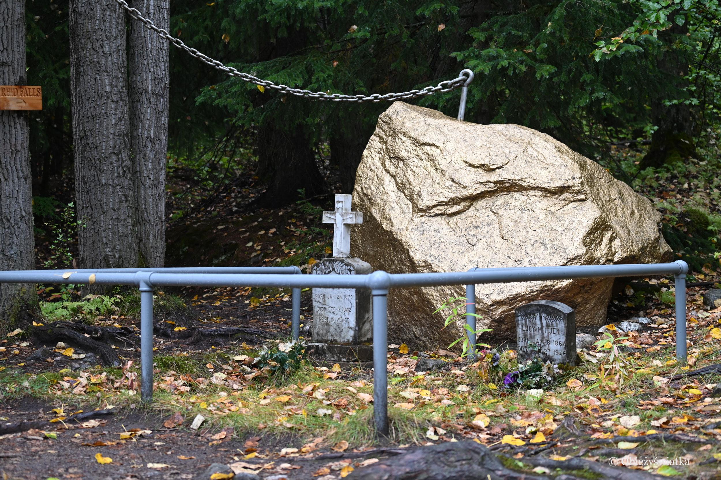 Grób Martina Itjena, który pełnił w Skagway wiele różnych funkcji i troszczył się o historię miasteczka, Cmentarz Poszukiwaczy Złota, Skagway, Alaska