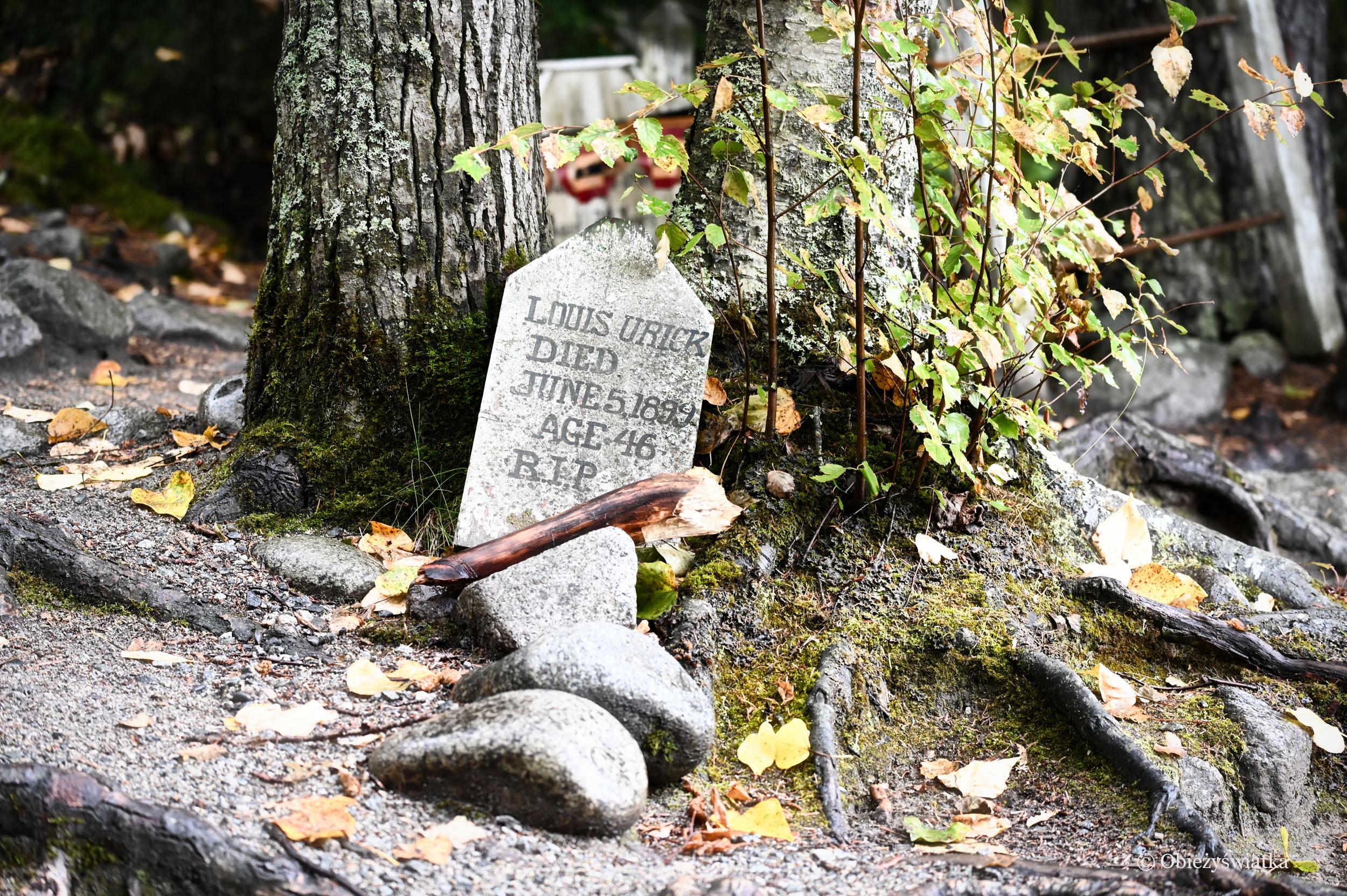 Na starym cmentarzu Poszukiwaczy Złota, Skagway, Alaska