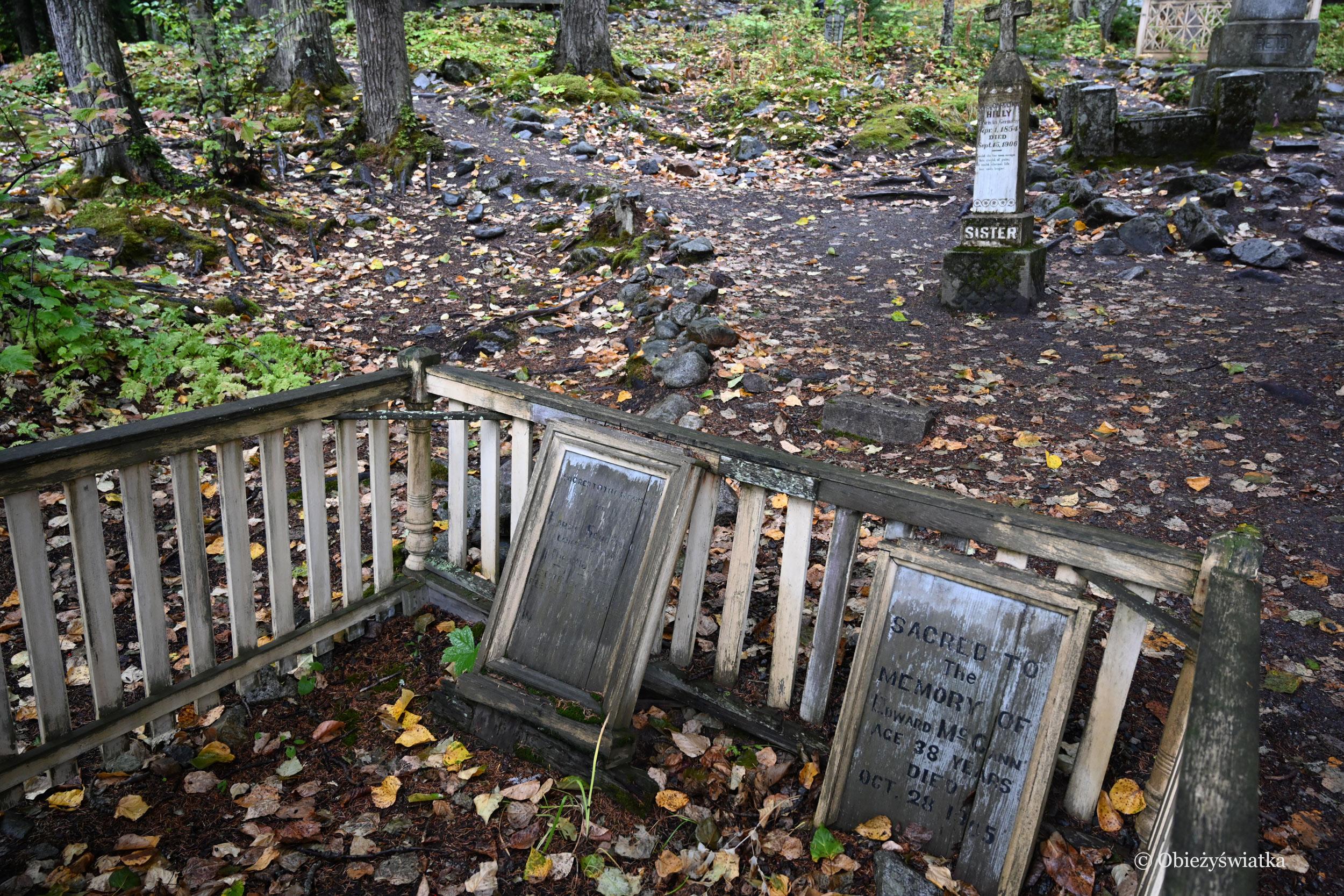 Odeszli w czasie gorączki złota na Alasce - Cmentarz Poszukiwaczy Złota w Skagway, Alaska