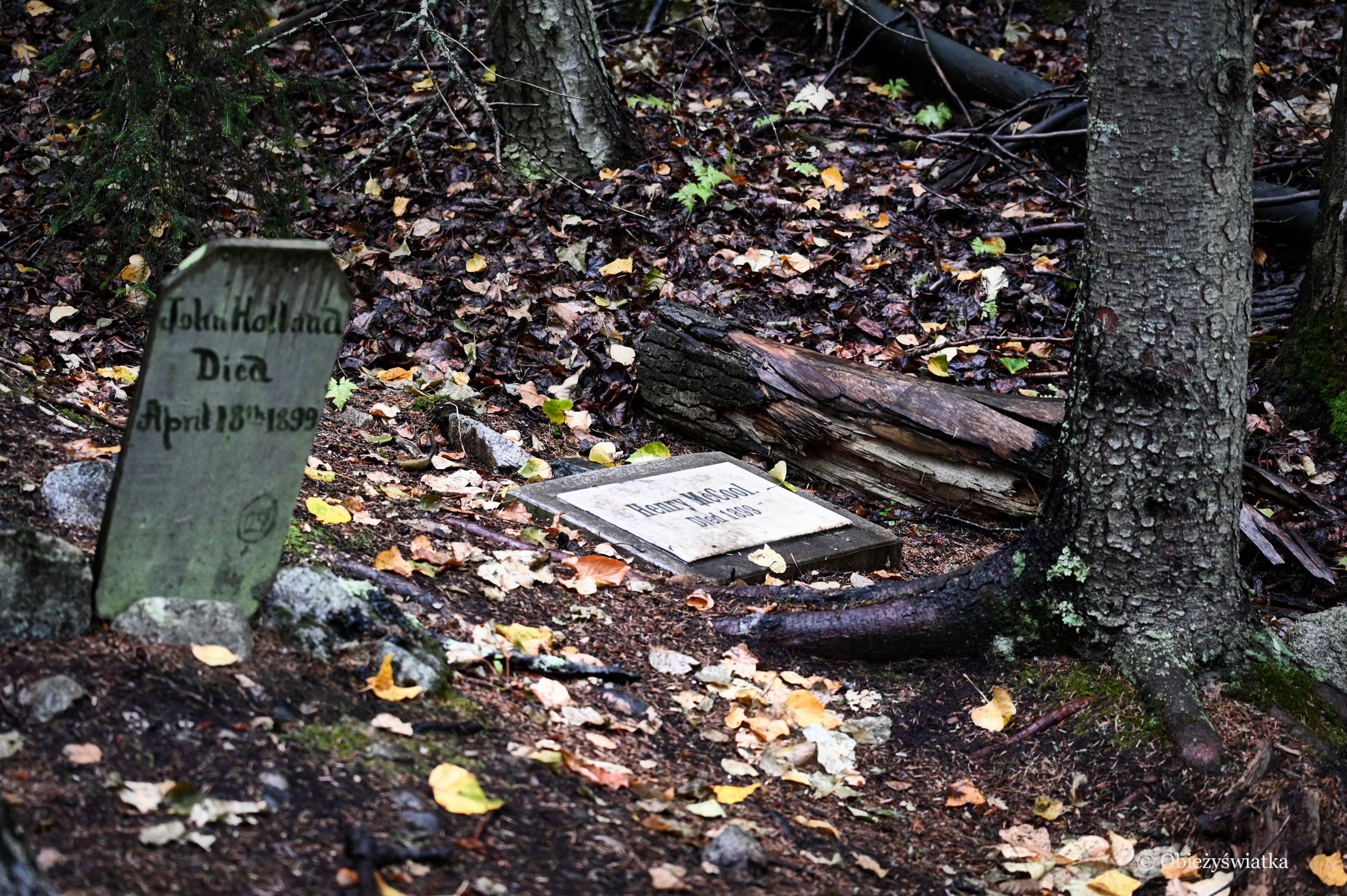 Gold Rush Cemetery - Cmentarz Poszukiwaczy Złota, Skagway, Alaska