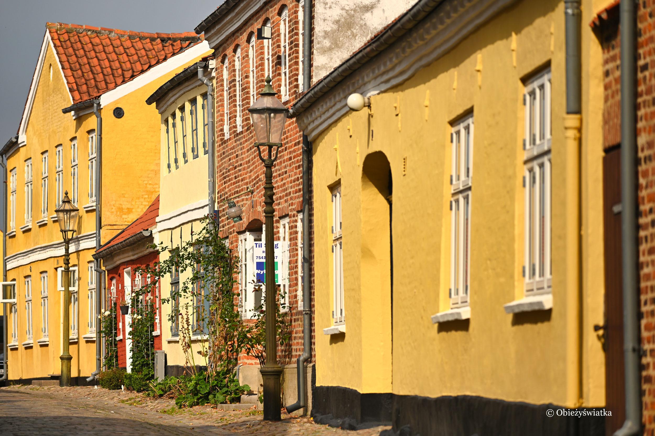 Kolorowa zabudowa w Ribe, Dania