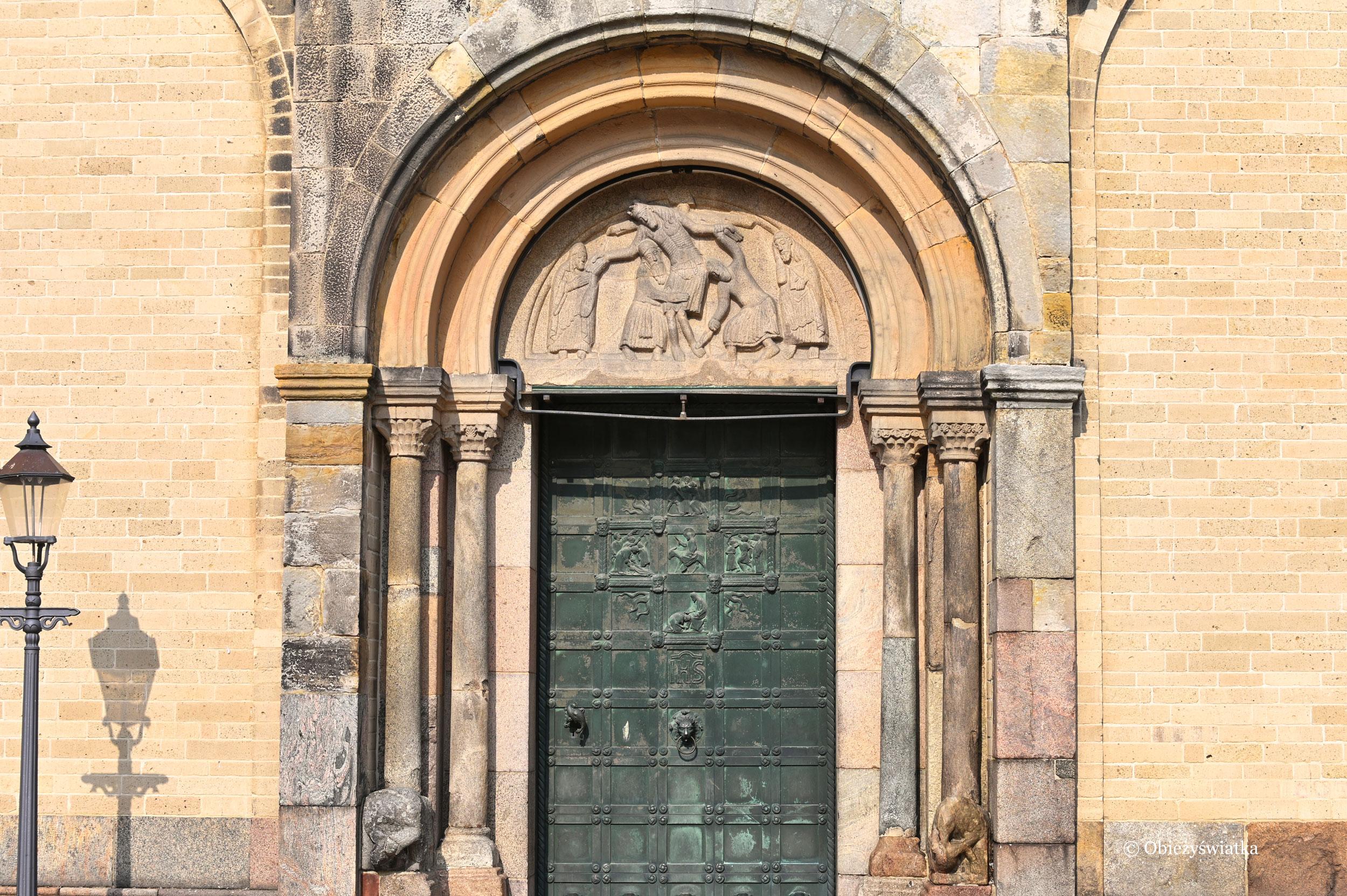 Ribe, Dania - główne wejście do Katedry