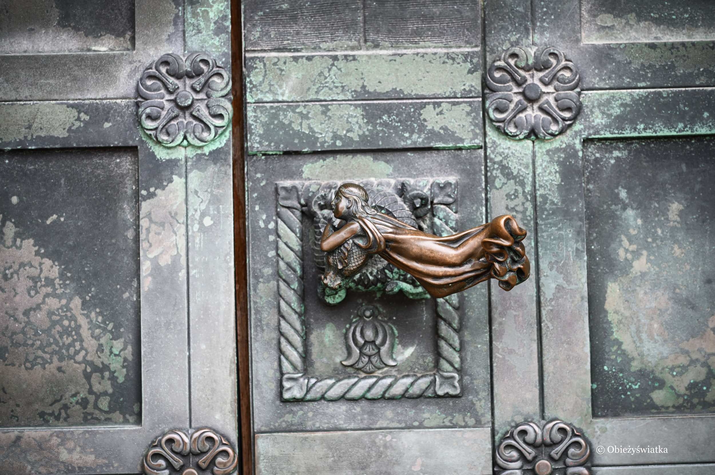 Jedna z klamek w Katedrze w Ribe, Dania