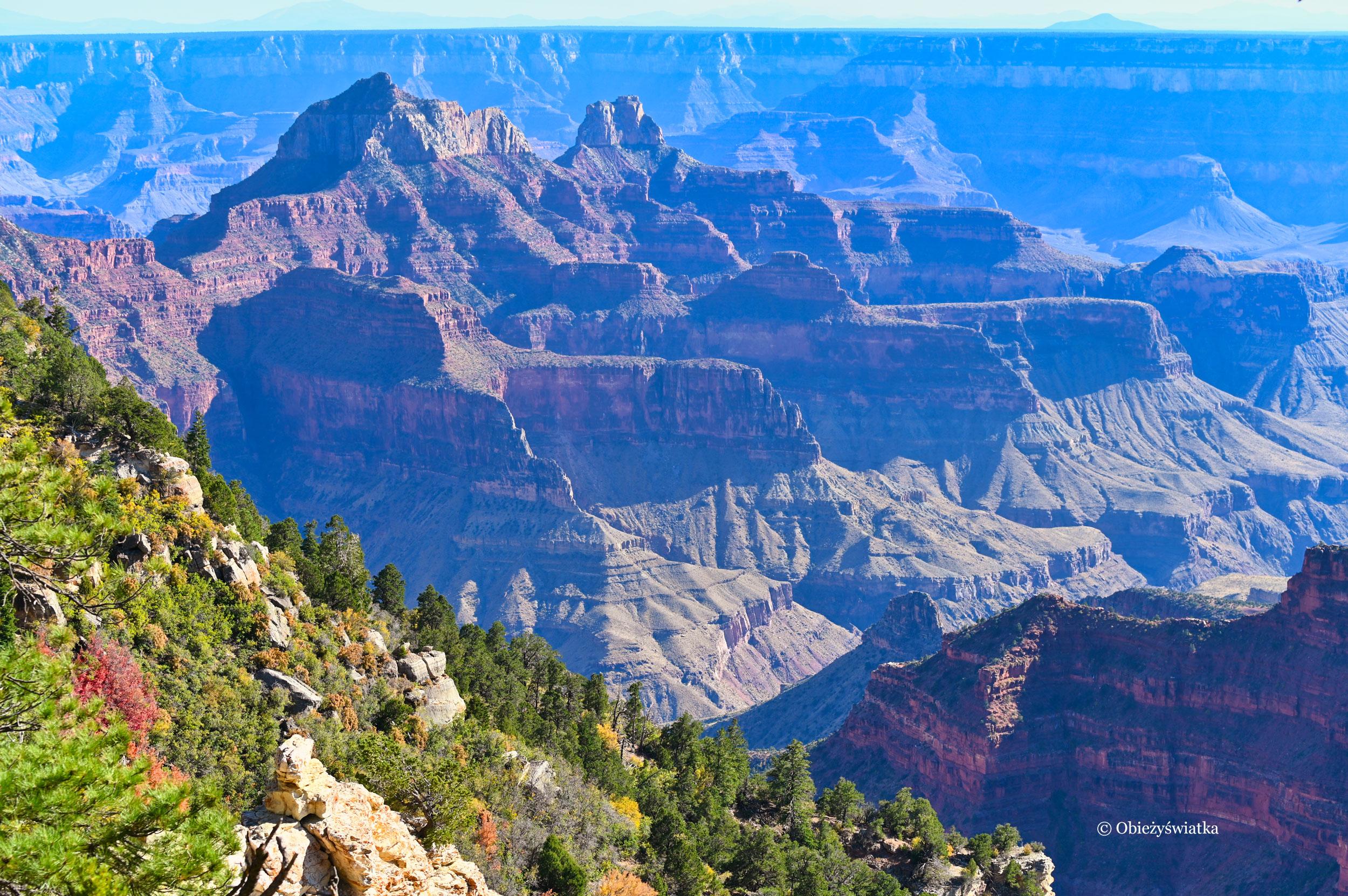 Wielki Kanion - Grand Canyon, widok z północnej strony