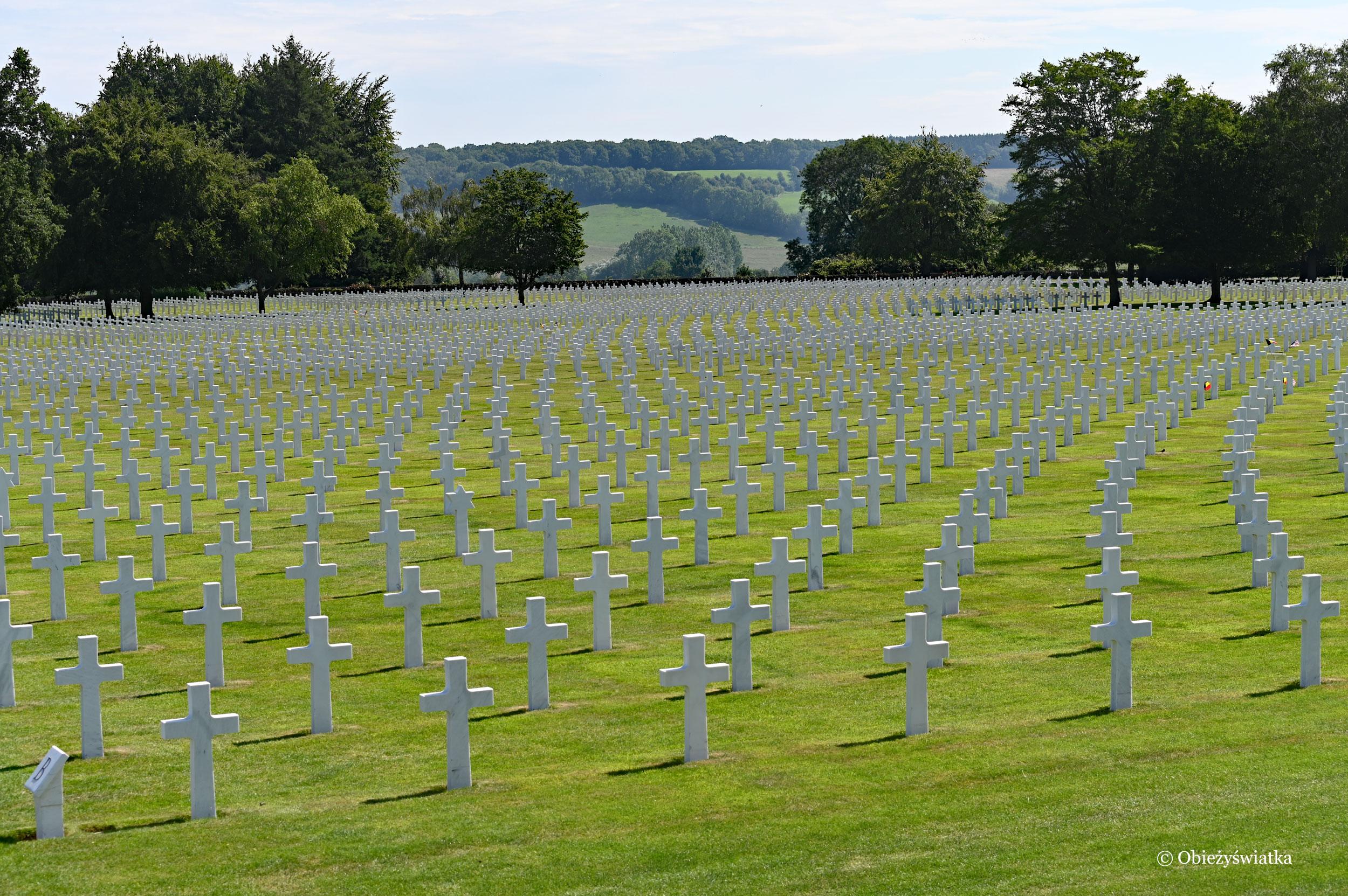 Teren amerykańskiej nekropolii wojskowej w Henri Chapelle, Belgia
