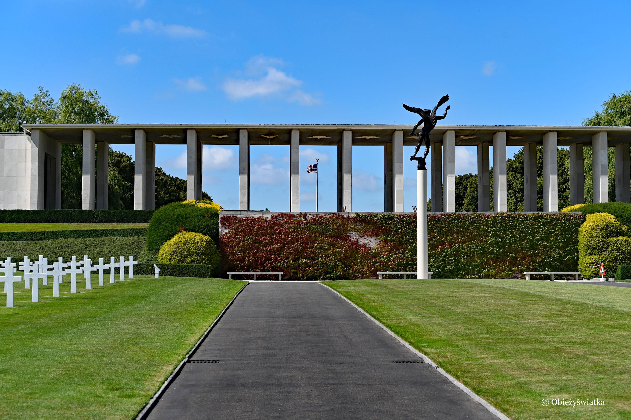 Na cmentarzu - American Cementery and Memorial, Belgia