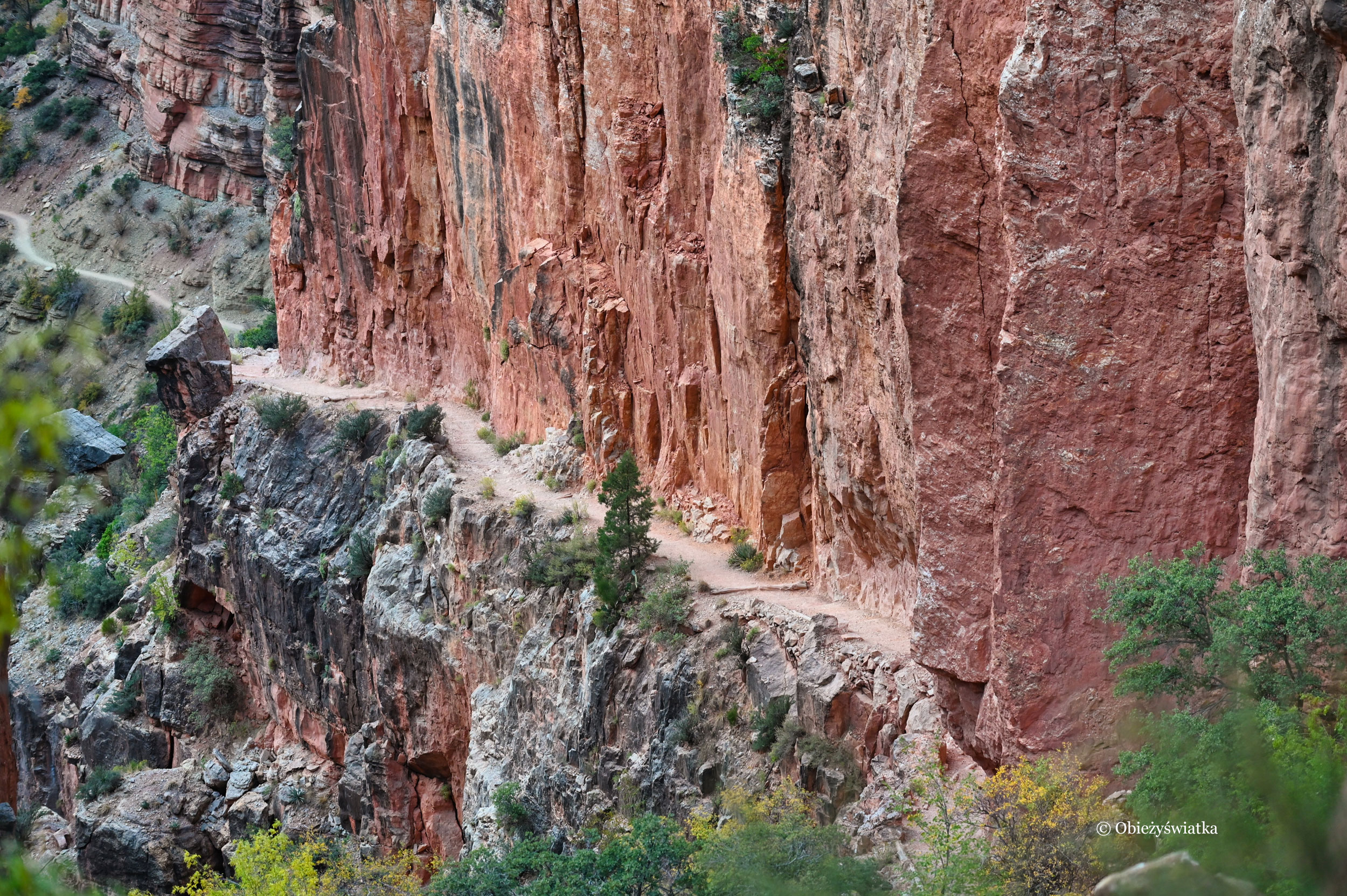 Wędrując po skałach - North Kaibab Trail, Grand Canyon, Arizona