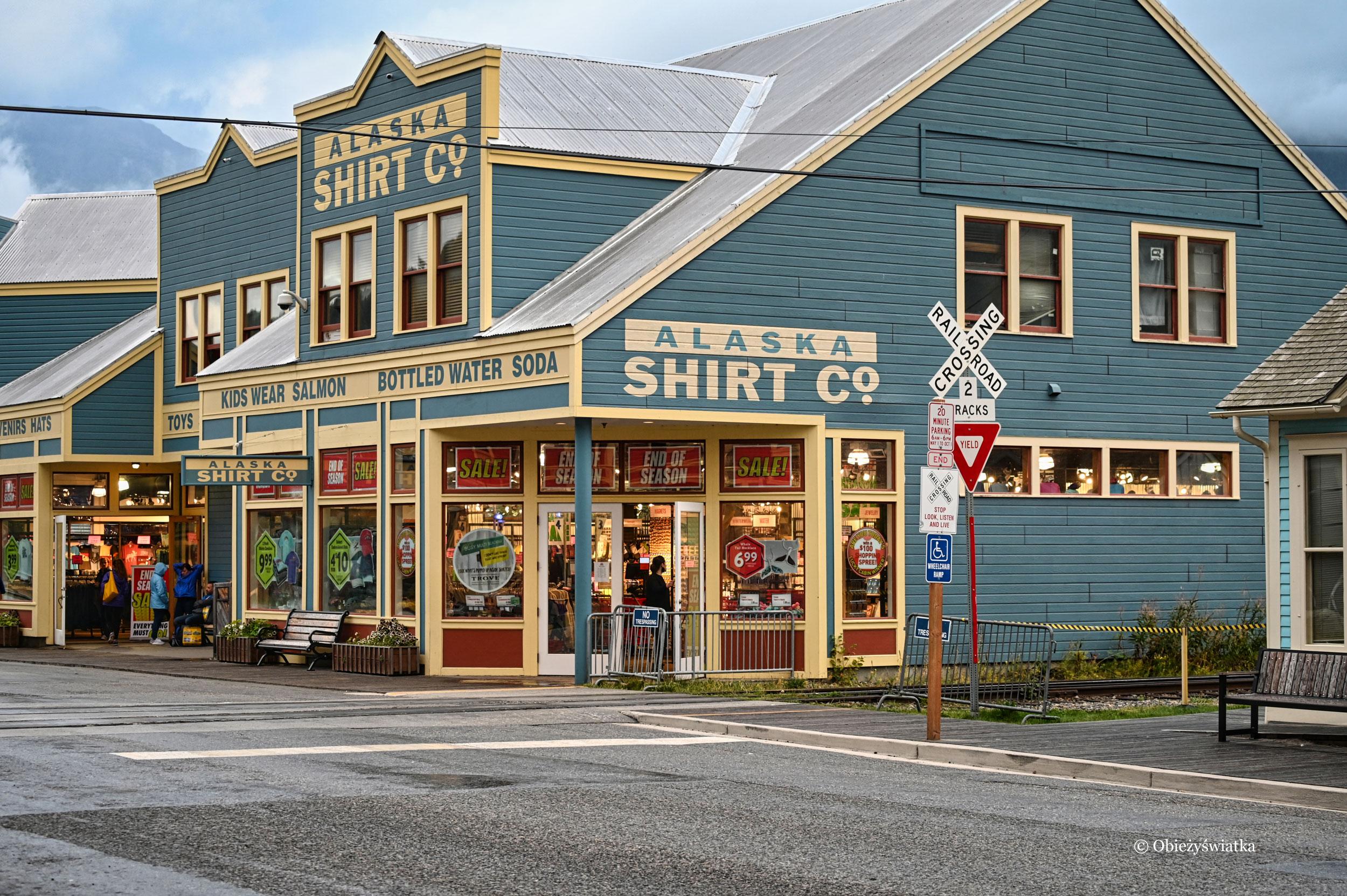 W Skagway jest bardzo dużo sklepów z pamiątkami...