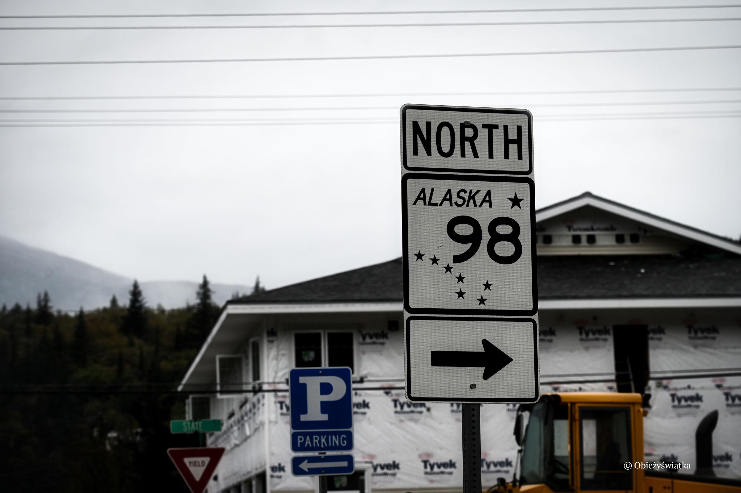 Czyż to nie jest najpiękniejszy znak - Wielki Wóz jako symbol Alaski, Skagway, Alaska