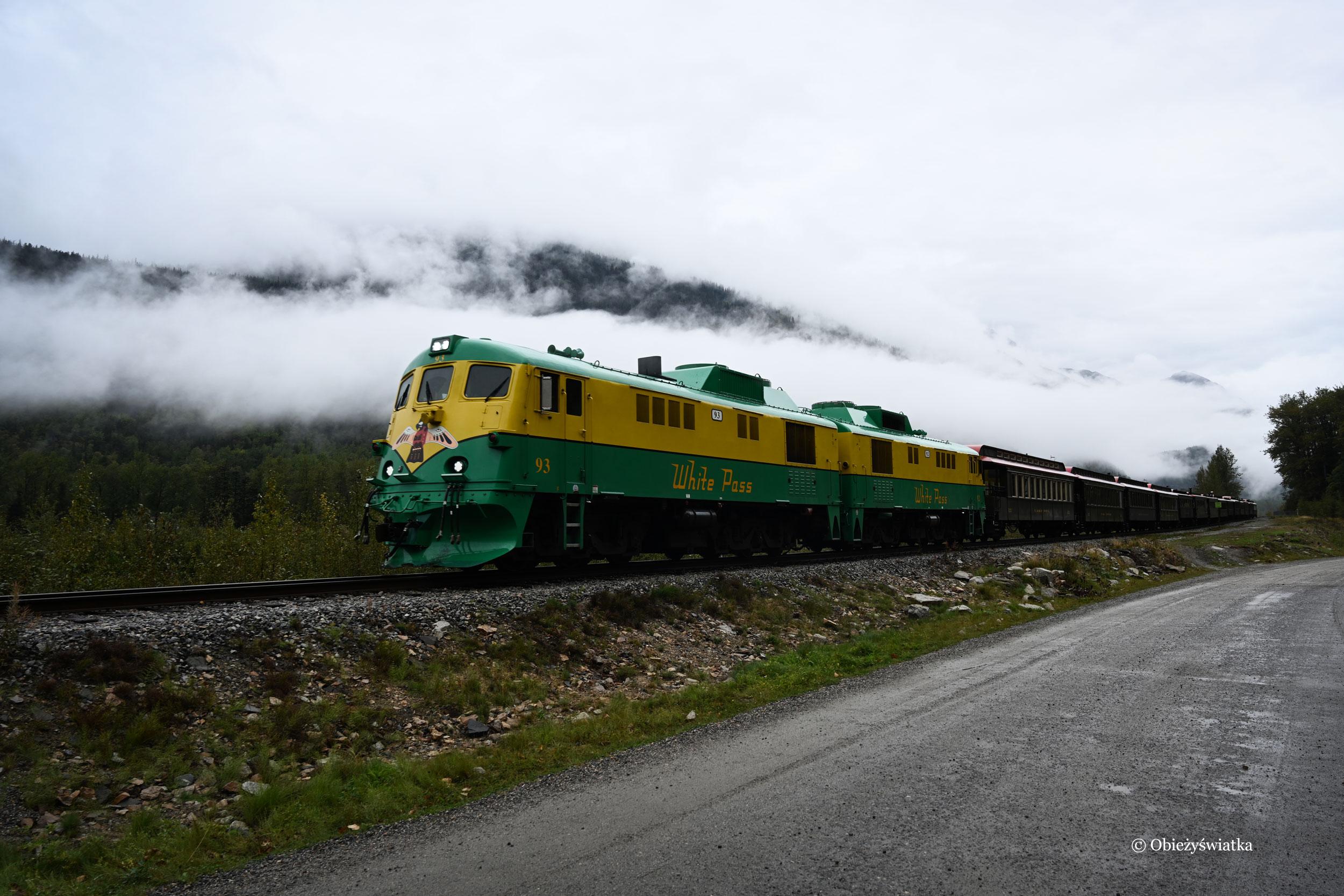 Do Skagway można dostać się również koleją...., Skagway, Alaska