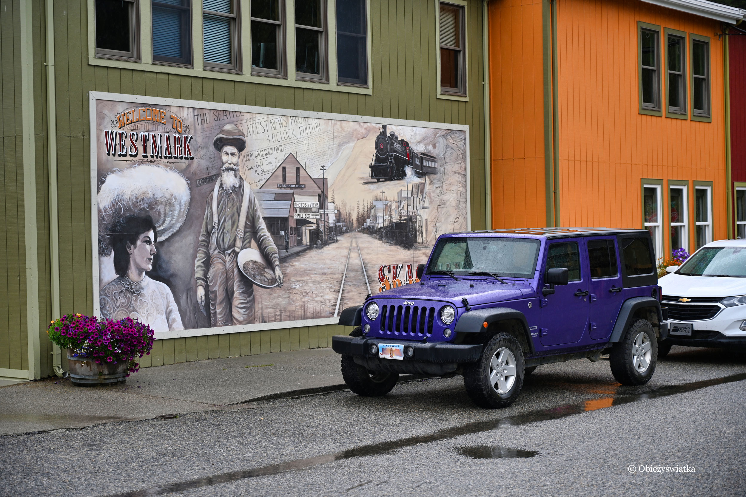 Murale w Skagway, Alaska