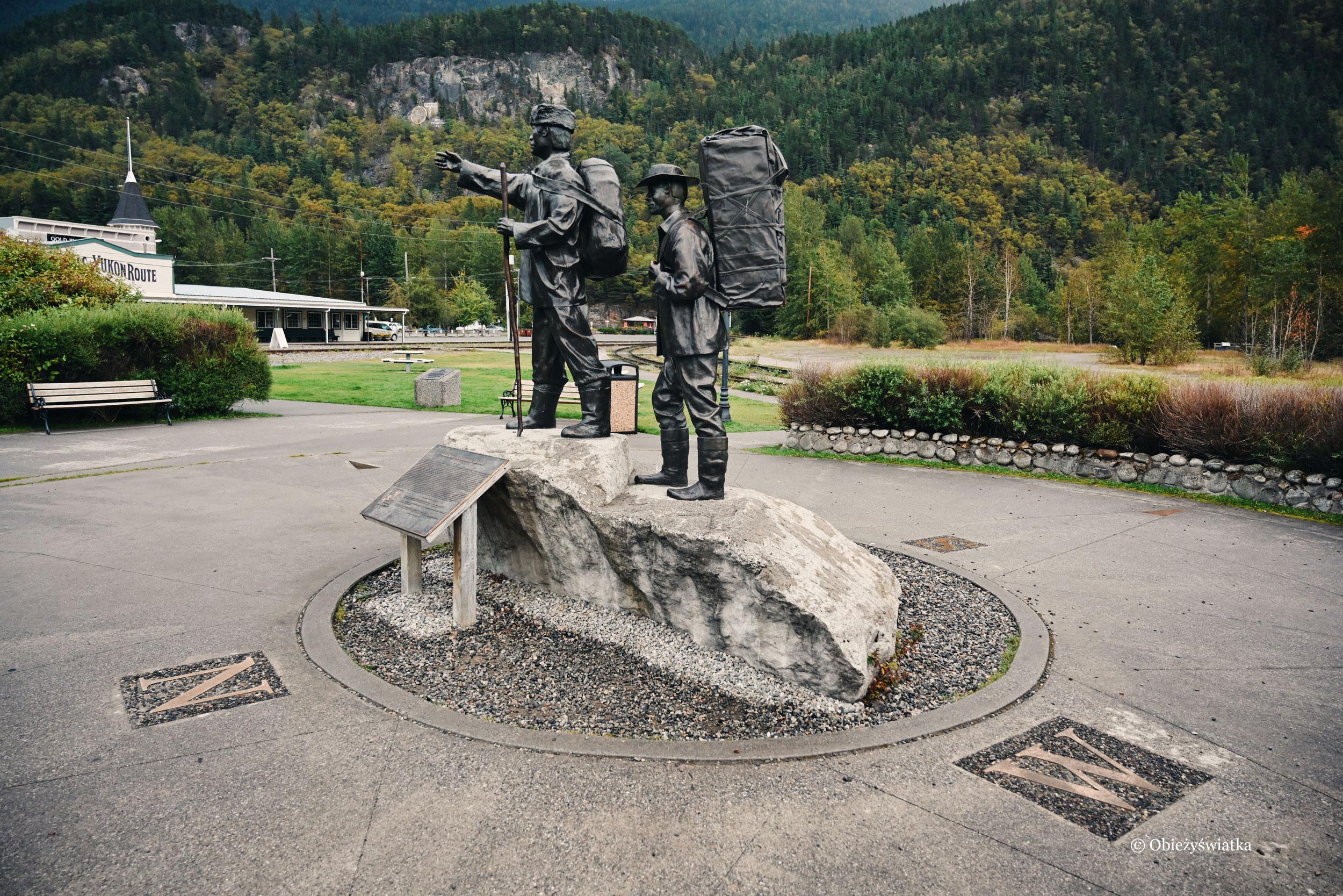 Pomnik powstały na stulecie urodzin miasta w 1997, Skagway, Alaska