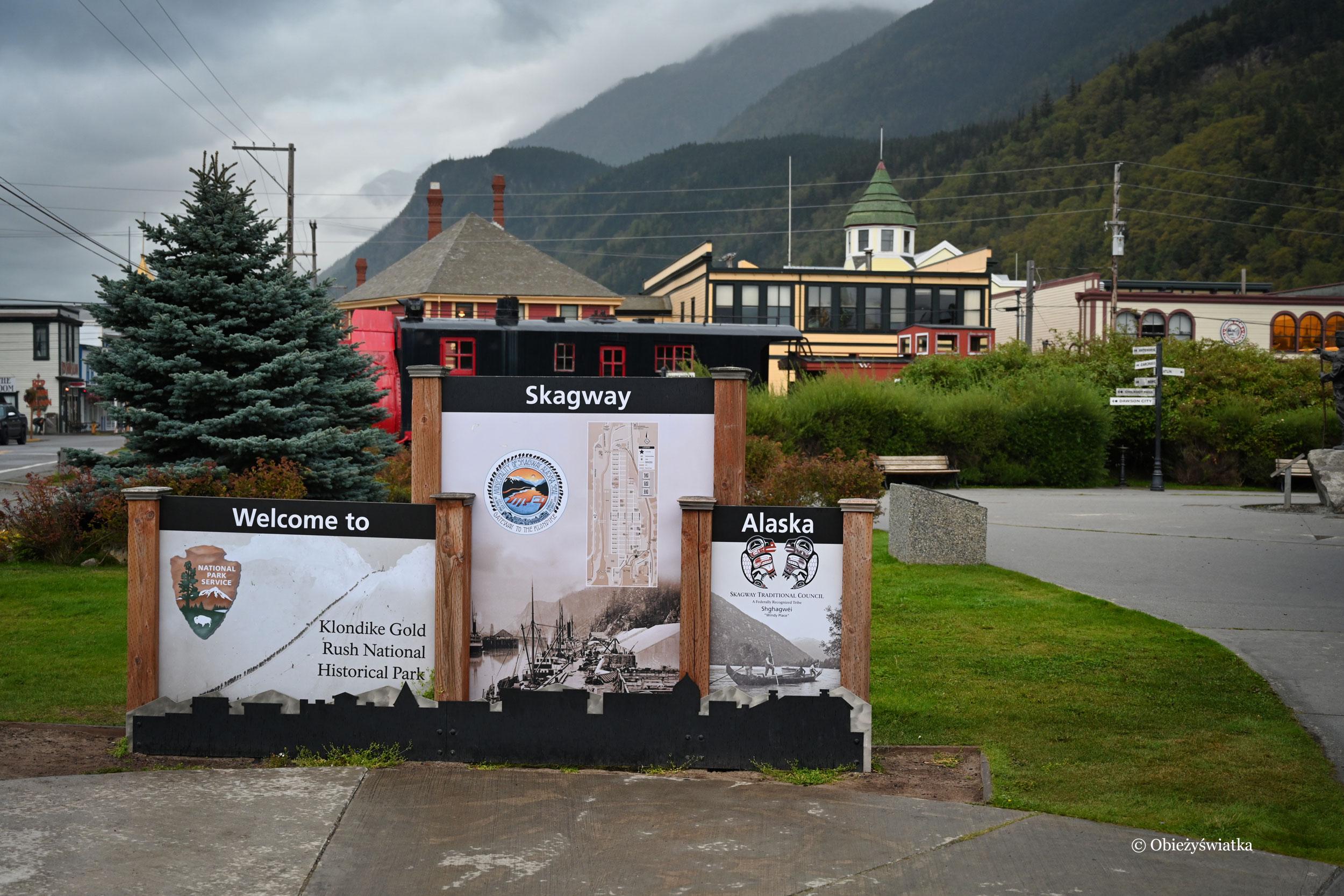 Skagaway, Alaska - szyld miasta