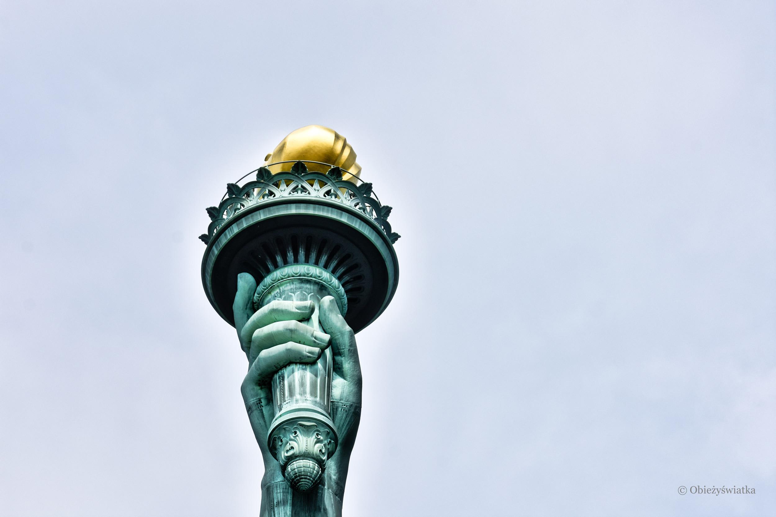 Pochodnia trzymana przez Wolność - Statue of Liberty