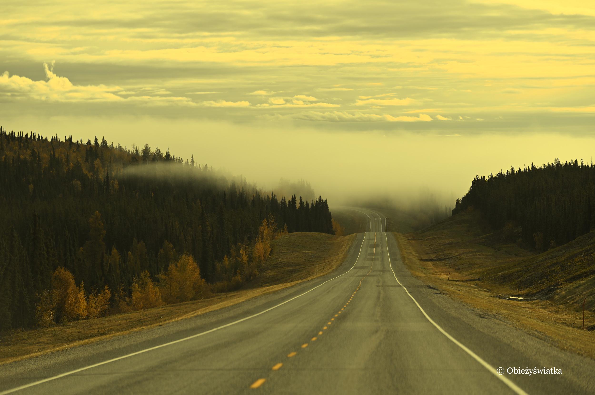 We mgle - Klondike Highway, Yukon, Kanada